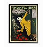 Stupell Industries La Victoria Arduino Cafe Espresso Vintage Inspired Poster Black Framed Wall Art, 16 x 20, Design by Artist VeeBee