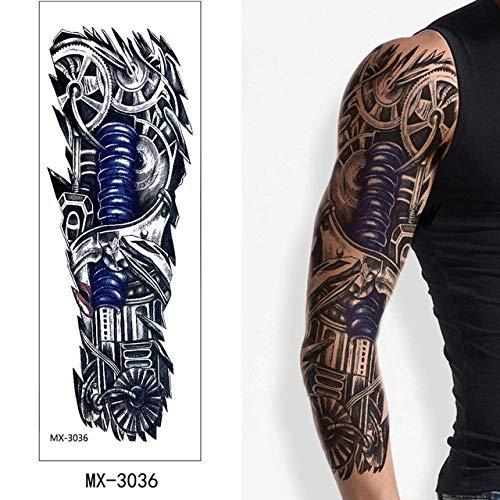 Etiqueta engomada del tatuaje Brazo hermoso Flor grande Tatuaje tatuaje Impermeable Arte corporal grande Señora masculina