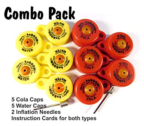 Charlie's kaBOOM!! Combo Pack - 5 Cola Caps and 5 Water Caps