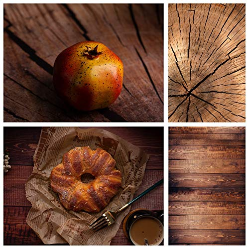 Selens 2in1 Flat Lay Hintergrund 60x90cm Körniger Holzstumpf Fotografie Hintergründe Lebensmittel Kosmetik Tischplatte Doppelseitiger Hintergründe Foto für Gourmet Kosmetik Produktfotografie Poster