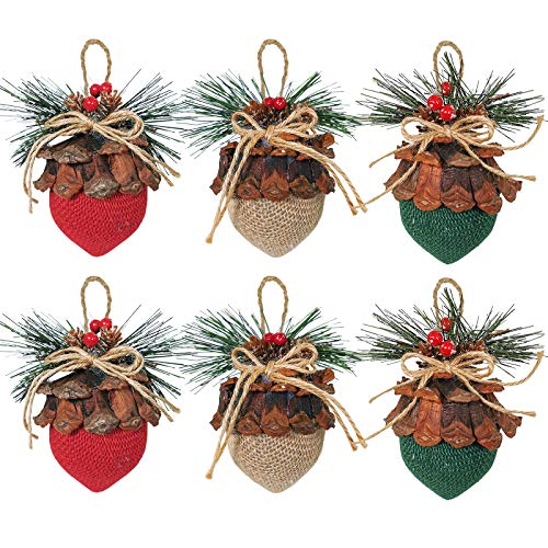 Winlyn 6 Pieces Christmas Hanging Ornament