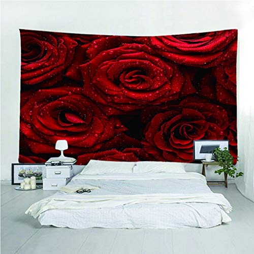 Wandtapijt, 3D-print, groot motief, roze, rood, licht, sprei, draagbaar, multifunctioneel, strand, wandtapijt 256(H)X350(L)Cm