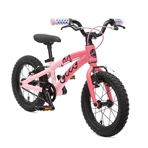 OLLO Premium Kinderfahrrad 14 Zoll (ab 3 Jahre) für Jungen & Mädchen (nur 6,1 kg) - pink