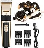 NANI Pet Grooming Clipper Set surtidos, Serie recargable preparación del animal doméstico Kit Clipper con poco ruido y de servicio pesado de motor for eléctrico sin cuerda del ajuste de afeitar y perr