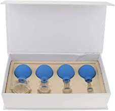 Baoblaze 4pcs Glass Anti Cellulite Massage Vacuum Cupping Cups Set Different Size for Face Body