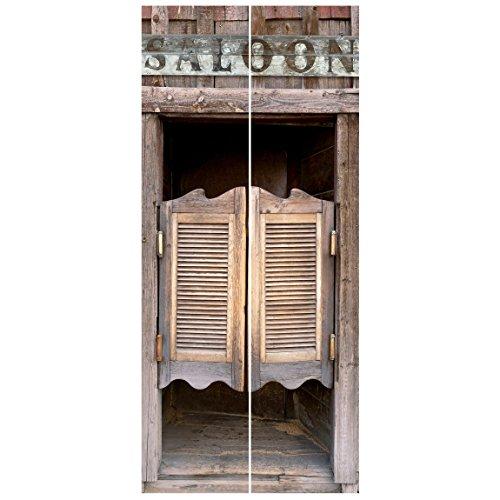 Vliestapete Tür - Wild West Saloon - Türtapete, Größe HxB: 215cm x 96cm