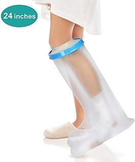 Funda de pierna impermeable para baño de ducha de adultos,