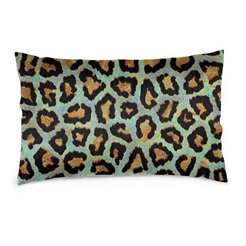 Fundas de cojín de terciopelo rectangulares fundas de almohada suaves decorativas para sofá, dormitorio, coche, 40,6 x 60,9 cm (estampado de animales de leopardo)