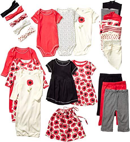 Touched by Nature - Set de Regalo Unisex para bebé con Bolsa para la Colada, Poppy Pack, 0-6 Meses