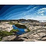 JXMK Pintura de Bricolaje Sin Marco Pintura abstractaKits de Pintura por Números para Adultos Pintura decoración del hogar 40x50cm