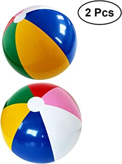 Toyvian 2pcs Pelotas de Playa inflables para Playa Piscina Fiesta Color del Arco Iris