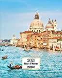 2021 Weekly And Monthly Planner: A Pretty Simple January to December Agenda, Venice Italy Cover...