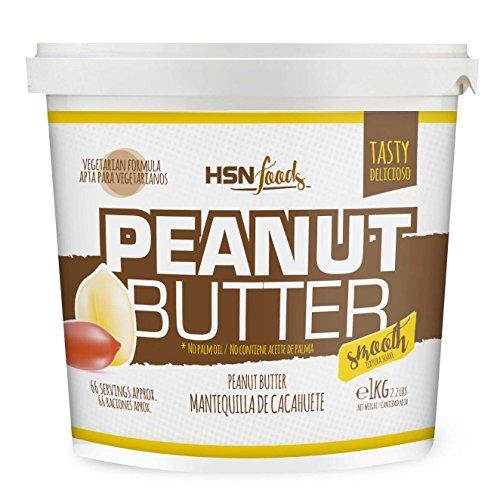 Mantequilla de Cacahuete de HSN | Textura Suave y Cremosa - Peanut Butter Smooth - 100{97fb1c286299e096515cf1d36d54d5699c83cfd966d9793f6aba4ed900a77266} Natural | Apto Vegetariano, Sin grasa de palma, Sin grasa trans, Sin azúcar ni sal añadidos, 1000g