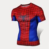 GarmentHolyland スパイダーマン(Spider-Man) コスプレ衣装 フィットネストレーニング 吸汗速乾運動Tシャツ 半袖