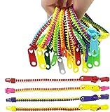 TADAE 48 pulseras con cremallera para niños, juguetes para fiestas