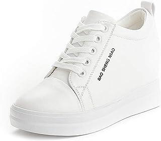 Femmes Baskets Hauteur Augmentant Casual Sports Chaussures Plateforme Talons Chaussures De Sport Chaussures À Lacets Compe...