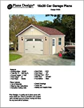 16' X 20' Car Garage/workshop Project Plans -Design #51620