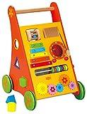 Babywalker / Lauflernwagen mit Motorikspielen / Material: Holz / Maße: 35 cm breit - 47 cm hoch /...