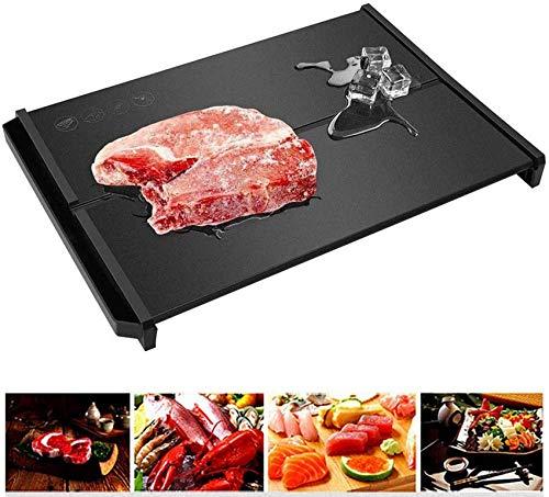 Schnelles Auftauen Abtauplatte/Spüle Design/Luftfahrtlegierung, Abtautablett Schnelles Tiefkühlfutter Fleisch Unbeschichtet für Fleisch und Tiefkühlkost, 100% natürliche Antihaft-Ge