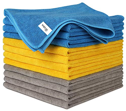 AIDEA Microfiber Cleaning Cloths, Extra Large & Thick(1.5Lb)-12Pack, Softer Highly Absorbent, Extra Thick Cleaning Cloths, Lint Free Streak Free for House, Kitchen, Car, Window Gifts(16in.x16in.)