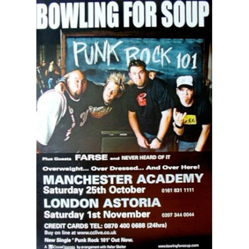 Bowling For Soup - Poster Bowling For Soup