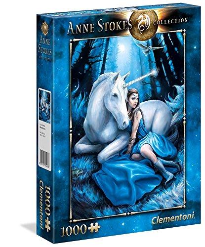 Clementoni- Puzzle 1000 Piezas Anne Stokes Blue Moon (39462.3)