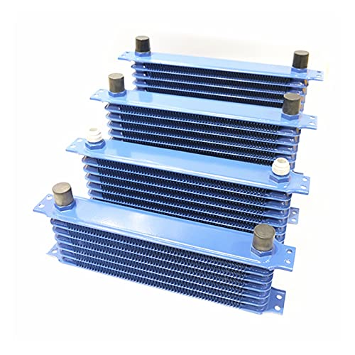 HUAZHUANG-Home Radiador de Aluminio 7/10/13/15 Filas Tipo japonés Coche Motor de Aceite enfriamiento Radiador Reemplazo Reemplazo Universal Cooler (Color : 10 Rows Oil Cooler)