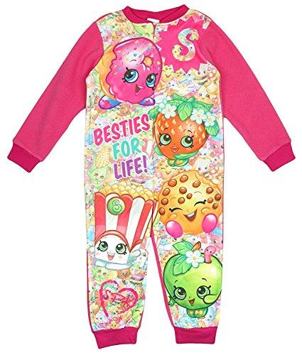 Shopkins D'Lish Polly Besties for Life - Pijama de forro polar con cremallera para niñas de 3 a 8 años