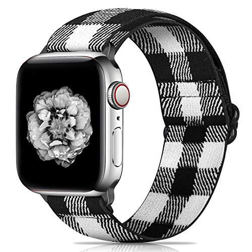 Neoxik - Pulsera compatible con Apple Watch de 42 y 44 mm, trenzada, suave y transpirable, para Series SE, 6, 5, 4, 3, 2 y 1, pulsera deportiva ajustable para hombre y mujer