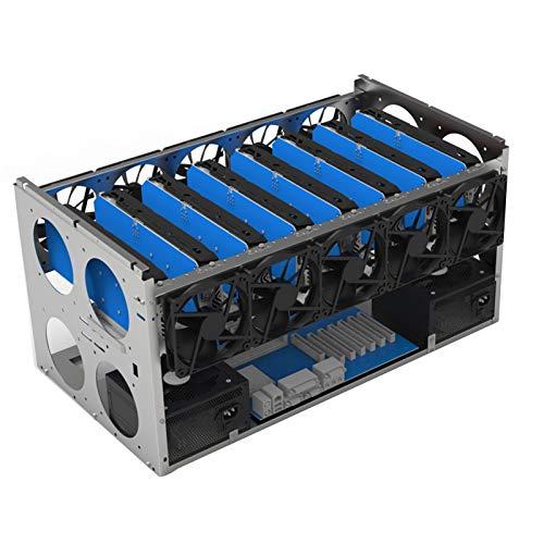 nlgzklsh Armazón de minería abierta apilable para minería ETH/ETC/ZEC Ether Accesorios Herramientas para 6/8/12 GPU Crypto Coin Bitcoin Rack Solamente