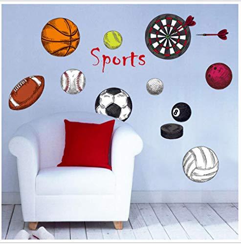 Junge Sport Ball Fußball Basketball Volleyball Schlafsaal Wandaufkleber Dartscheibe Tennis Klassenzimmer Anordnung Aufkleber