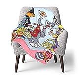 Hdadwy Looney Tunes Baby Blanket Edredón para niños pequeños Mantas ligeras para niños Juego de cama de cuna ultra suave para el hogar