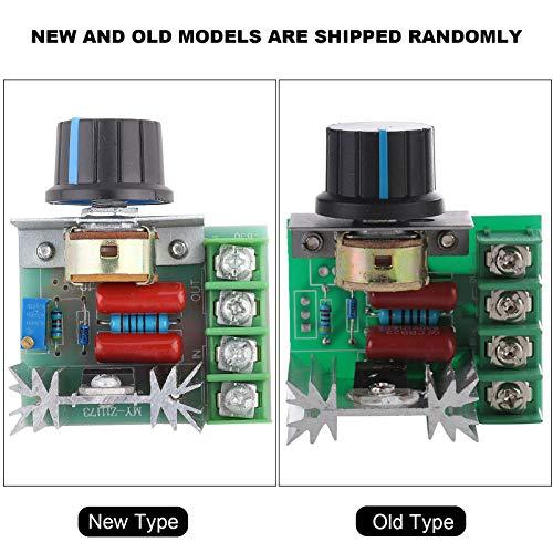 Controlador de velocidad del motor de CA Controlador de potencia de 220 V CA confiable Controlador de velocidad de tiristor ajustable 2000 W para equipos eléctricos Accesorios industriales