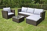 Bigzzia <span class='highlight'>Rattan</span> Modular Corner Sofa Set Bahamas 5PC <span class='highlight'>Garden</span> Corner Sofa includes Cushions