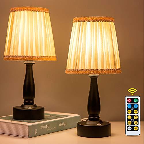 ZEEFO LED Night Light, Battery-Powered Portable Night Lamp, Eye Protection Warm White Remote Control...