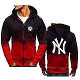 GMRZ MLB Chaqueta con Capucha para Hombre, Hoodie con New York Yankees Diseño Logo Sudaderas del Equipo Béisbol Grandes Ligas Camisetas Fans Amante Suéter con Capucha,B,M