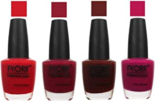 FYORR The Red Wine Collection Nail Polish - Set of 4 (15 Ml Each)