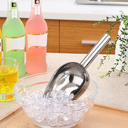 XENO-Stainless Steel Metal Wedding Candy Ice Cube Flour Hand Bar Buffet Scoop Kitchen