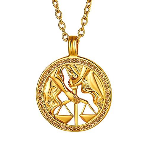 Collar de Libra bañado en oro