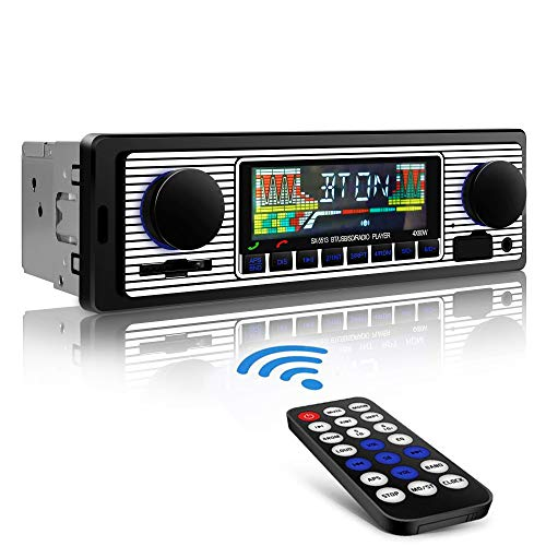 Aigoss Car Radio Bluetooth, Car Stereo Hands Free 4x60W FM Radio Car Receptor con reproductor de MP3 con ecualizador integrado Compatible con USB / AUX in / MP3 / FLAC / SD y control remoto