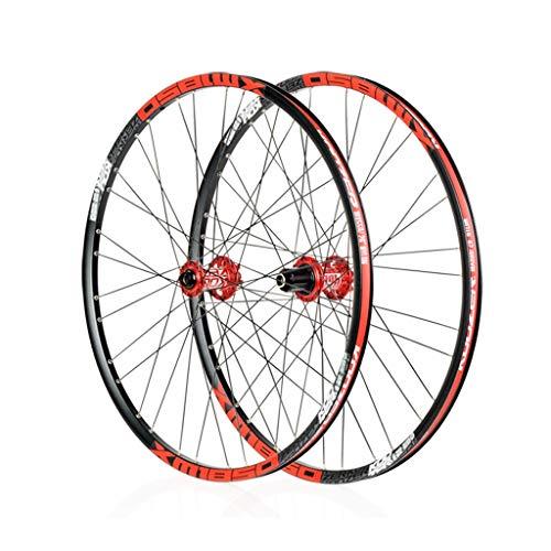 Bike Wheel MTB de Ruedas de trinquete con Fuerza magnética MTB Hub 26/27,5/29 Pulgadas de liberación rápida (Color : Black, Size : 26')