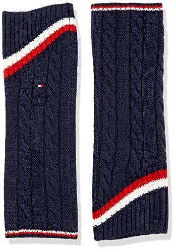 Tommy Hilfiger Womens TH Warmers 1P Cable Leg Warmer, Navy, ONE SIZE