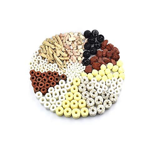 EDOTFISH Aquarium Filter Bio Balls Filter Aquarium Fish Tank Filter Media Activated Carbon Ceramic Ring Biological Ball