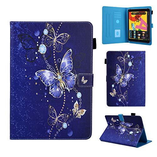 Funda Compatible con 9-10,5' Tableta, Carcasa Protección para Samsung Galaxy Tab A6 10,1'/A7 10,4', iPad 2/3/4, iPad 2018, Lenovo Tab M10/E10/P10, Huawei MediaPad T5/M5 Lite 10/MatePad T10S, Mariposa