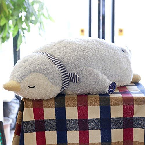 Lulihhhh 55/75/100 cm Linda Almohada Suave Oso Abrazo Oso Almohada muñeca de Peluche de Juguete durmiendo Regalo del día de los niños para Novia 55 cm pingüino