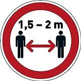 Durable 104103 Pittogramma da Pavimento Mantenere la Distanza di Sicurezza, Adesivo Rimovibile, per Aree Interne, Rosso