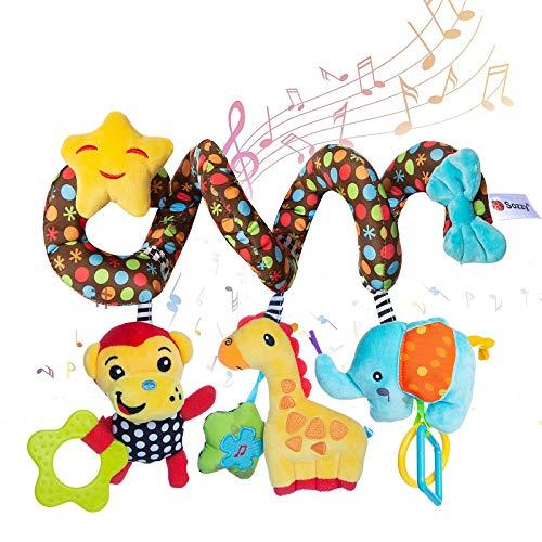 WolinTek Kinderwagen Spielzeug, Spirale Spielzeug Baby, Bett hängen Spielzeug,Baby-Autositz-Spielzeug,Activity Spirale für Kinderwagen Bett Babyschale ab 0 Monaten