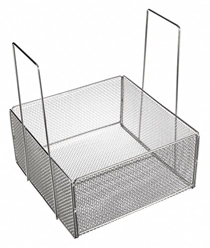 """Marlin Steel Stainless Steel Mesh Basket with Handles, Electropolished (18""""L x 18""""W x 9""""H)"""
