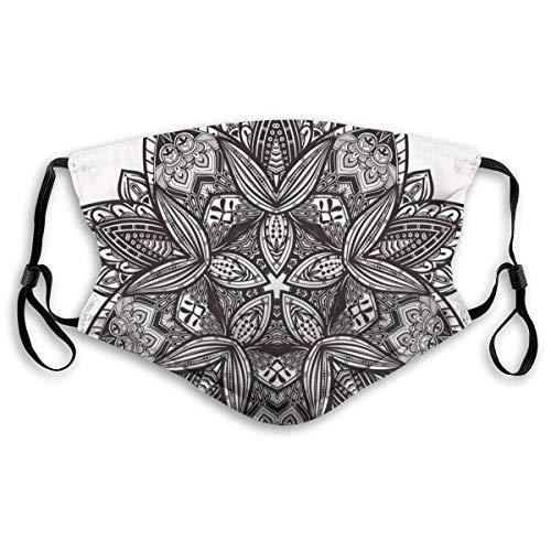wu Mode bequeme winddichte Abdeckung, ethnische Paisley Mandala Stammes orientalischen Stil Vintage Tattoo künstlerische Muster, gedruckte Gesichtsdekorationen für Unisex M.