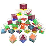 QICI Set di 24 Mini Puzzle con Livelli Assortiti. Perfetti Come regalini per Borse da Festa. Adatto per Adulti e Bambini (1)